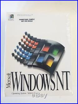 New Microsoft Windows NT 3.1 FIRST OS CDROM NEW Unopened Package Rare! 1993