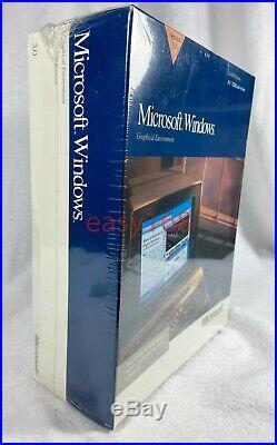New Sealed Microsoft Windows 3.0 Retail 3.5 Floppy 1990 USA Software DOS