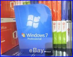 New & Sealed Microsoft Windows 7 Professional 32/64-bit DVD Fqc-00133 Genuine