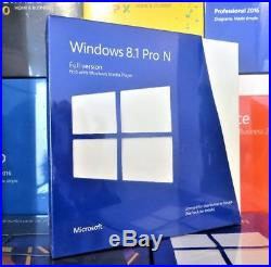 New & Sealed Microsoft Windows 8.1 Professional Pro Fwc-02104 100% Genuine Uk
