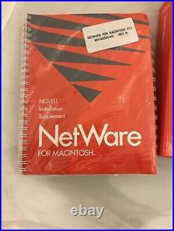 Novell net ware LAN Operating System v2.15 1990 OS Rev C New In Box