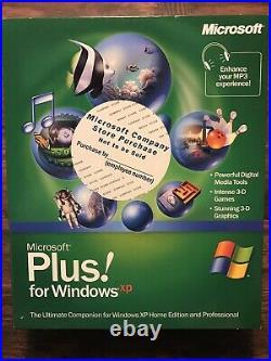 Plus! For Windows XP New Sealed Big Box