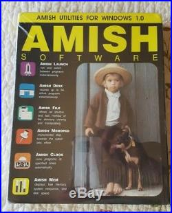 RARE AMISH Utilities Software for Microsoft Windows 1.0 OS Vintage NEWithSealed
