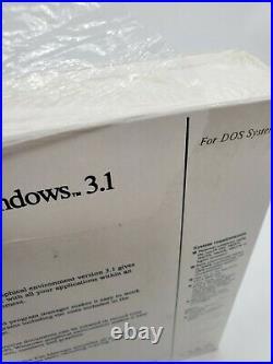 RARE CMOS Microsoft Windows 3.1 Operating System DOS 3.5 5.25 Floppy NEW Big Box