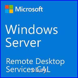 RDS CALs for Windows Server 2019 25 Users Remote Desktop Service