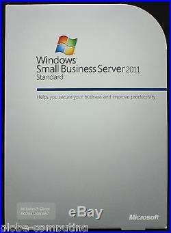 Retail Microsoft Windows SBS Small Business Server 2011 Standard T72-02719