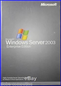 Retail Microsoft Windows Server 2003 x86 Enterprise Edtion 25 CAL P72-00001