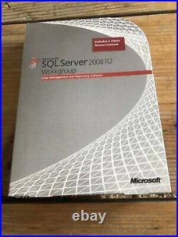 SQL Server 2008 R2 Workgroup inkl. 5 Cal Englisch mit MwSt Rechnung