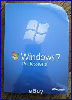 Sealed Microsoft WINDOWS 7 PROFESSIONAL 32/64-BIT Retail Boxed