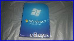 Sealed Microsoft Windows 7 Professional Full Complete Version 32 & 64 Bit
