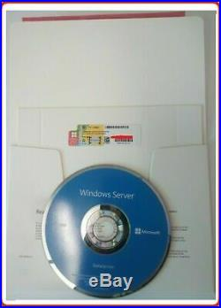 Sealed Microsoft Windows Server 2019 DATACENTER 2xCPU 16CORES & 50RDS USER CALs