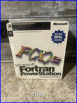 Vintage Microsoft Fortran Professional Development System Version 4.0 NEW SEALED