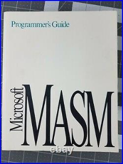 Vintage Microsoft MASM v6.11 Assembly Language Development System, TESTED