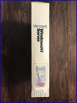 Vintage Windows NT Server 4.0 Sealed, Brand New Retail BIG BOX READ DESC