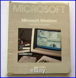 Vntg. Microsoft Windows Version 1.03 IBM PC MS-DOS Operating System 1986 5 1/4