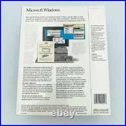 Vtg Microsoft Windows Version 3.0 For Dos Systems 3 1/2 (720k) Disk Version
