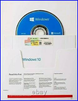 WIND0WS 10 HOME 64-bit on DVD And Key sticker sealed (5 pack)