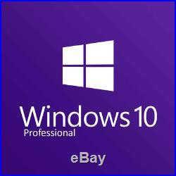 WINDOWS 10 PROFESSIONAL PRO 32 & 64 BIT ACTIVATION Key 30 Second BUY NOW