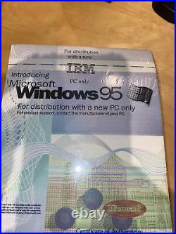 WINDOWS 95 ORIGINAL MICROSOFT Floppy Disks! Full Package WithCertificate of Authen