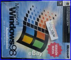 WINDOWS 98 SE en ESPAÑOL en CAJA / RETAIL Versión Actualización Como nuevo