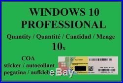 Windows 10 Professional Coa Sticker Key Lizenz Aufkleber