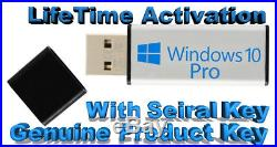 Windows 10 Pro 64-32 bit USB Bootable With Activation Key 100% Genuine Promo
