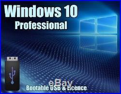 Windows 10 Pro Professional 64bit & 32bit Licence + bootable USB key