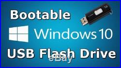 Windows 10 USB Stick All-in-One 32/64-Bit re Install/Boot/Recovery Restore