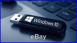 Windows 10 pro 32&64bit Bootable Usb Excellent Seller -100% Genuine + Support