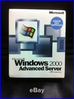 Windows 2000 Advancend Server mit Internet Connector Lizenz, unlimited Users, DE