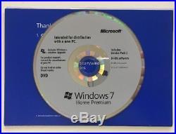 Windows 7 Home Premium OEM DVD License English X18-45392 Licence