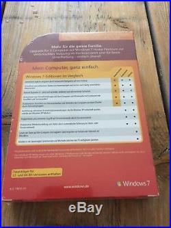 Windows 7 Home Premium Update Deutsch- Family Pack für 3 PCs mit MwSt Rechnung