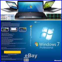 Windows 7 Pro 64-Bit Installation & Format HDD DVD Disc and COA