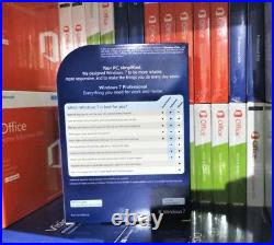Windows 7 Professional 32/64-Bit DVD FQC-00133 100% Genuine UK Retail Software
