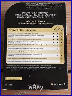 Windows 7 Ultimate, Retail Vollversion, 32+64 bit / GLC-00205 mit MwSt Rechnung