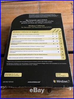 Windows 7 Ultimate, SP1 Retail Vollversion, 32+64 Bit, Deutsch mit MwSt Rechnung