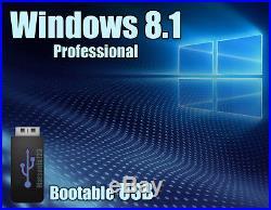 Windows 8.1 Pro Professional 64bit Bootable USB Flash Drive