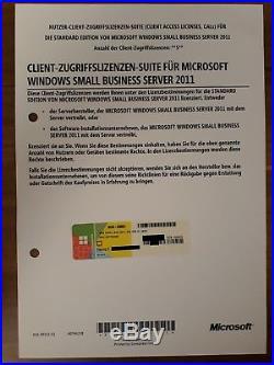 Windows SBS Small Business Server 2011 Standard USER / Benutzer / Nutzer 5-CAL