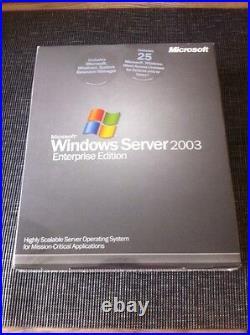 Windows Server 2003 Enterprise Englisch, 32 Bit, 25 CALs mit MwSt-Rechnung