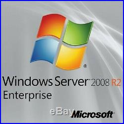 Windows Server 2008 R2 Enterprise, 8 CPU, x64, Full License + iso, Genuine