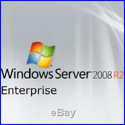 Windows Server 2008 R2 Enterprise x64 Full 8 CPU License + 20 CAL + Install
