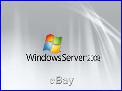 Windows Server 2008 R2 Standard x64 Full 4 CPU License + 20 CAL + Install