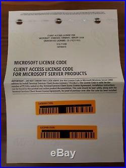 Windows Server 2008 Standard R2 RDS Remote Terminal Service 25Cal User Benutzer