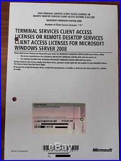 Windows Server 2008 Standard R2 RDS Remote Terminal Service 5 Cal User Benutzer