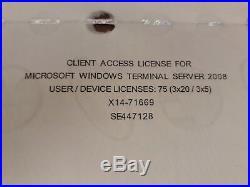 Windows Server 2008 Standard R2 RDS Remote Terminal Service 75Cal User Benutzer