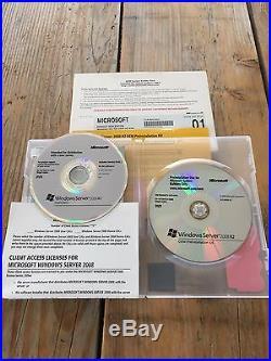 Windows Server 2008 Standard R2, mit 5 Clients, englisch mit MwSt Rechnung