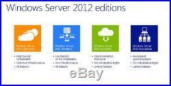 Windows Server 2012 R2 STANDARD License + FULL RETAIL PACK+