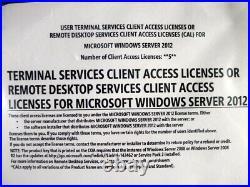 Windows Server 2012 RDS Terminal Services 5 CAL DELL Remote Desktop (USER) New