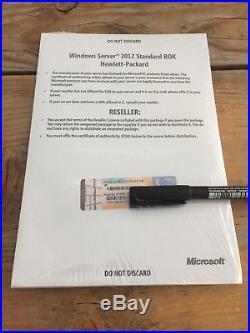 Windows Server 2012 Standard HP ROK Vollversion, (2CPU/ VMs) DVD, MwSt Rechnung