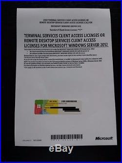 Windows Server 2012 Standard R2 RDS Remote Desktop Service 5 Cal User Benutzer